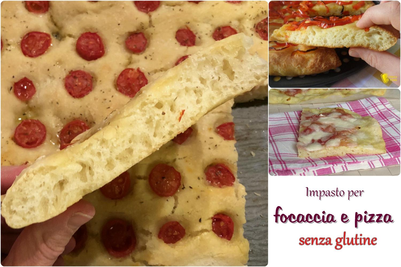 Impasto per focaccia e pizza senza glutne in teglia soffice ricetta con vari mix glutenfree il chicco di mais