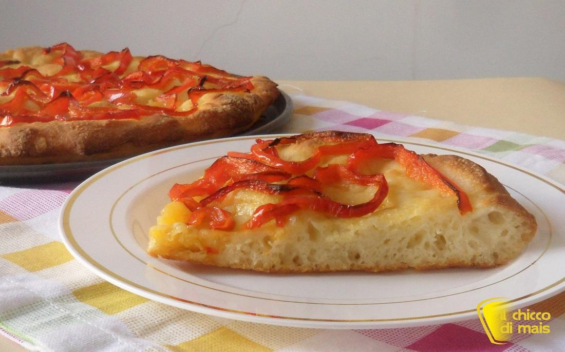 Focaccia ai peperoni ricetta senza glutine il chicco di mais