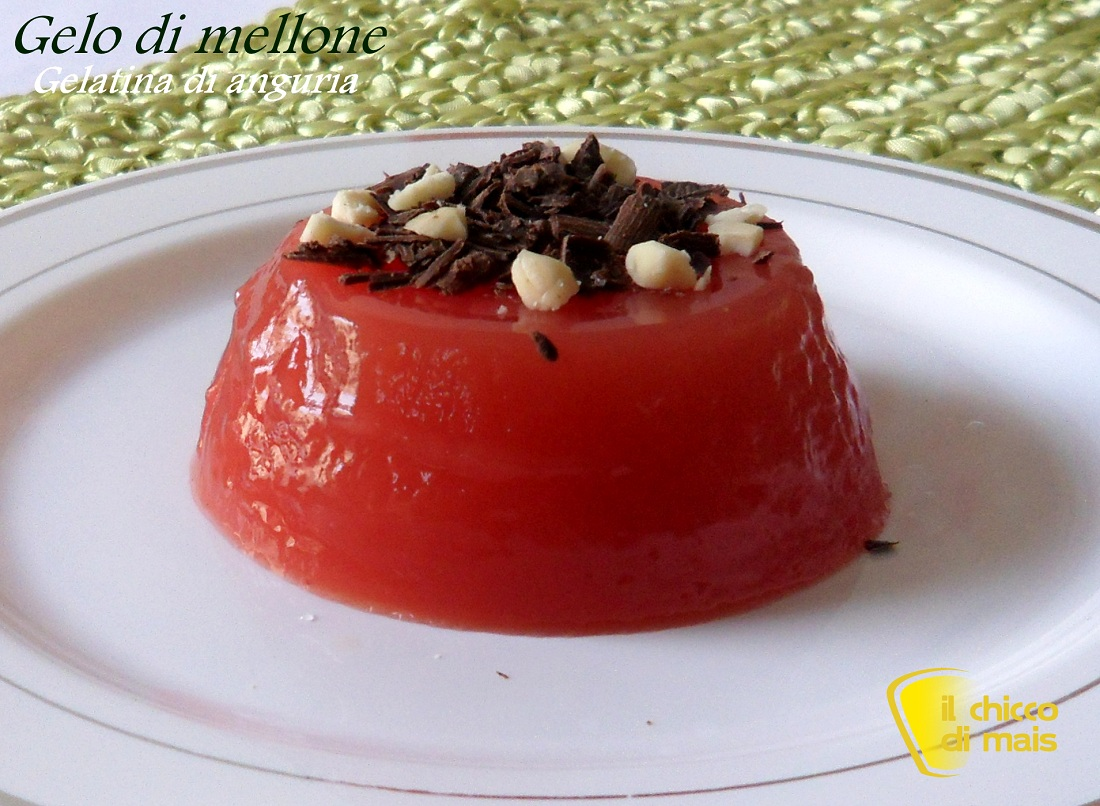 Gelo di melone gelatina di anguria il chicco di mais