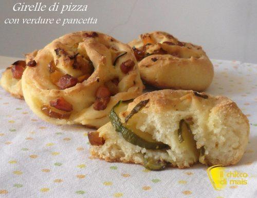 Girelle di pizza con verdure e pancetta (ricetta senza glutine)