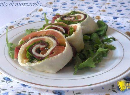 Rotolo di mozzarella tricolore (ricetta piatto freddo)