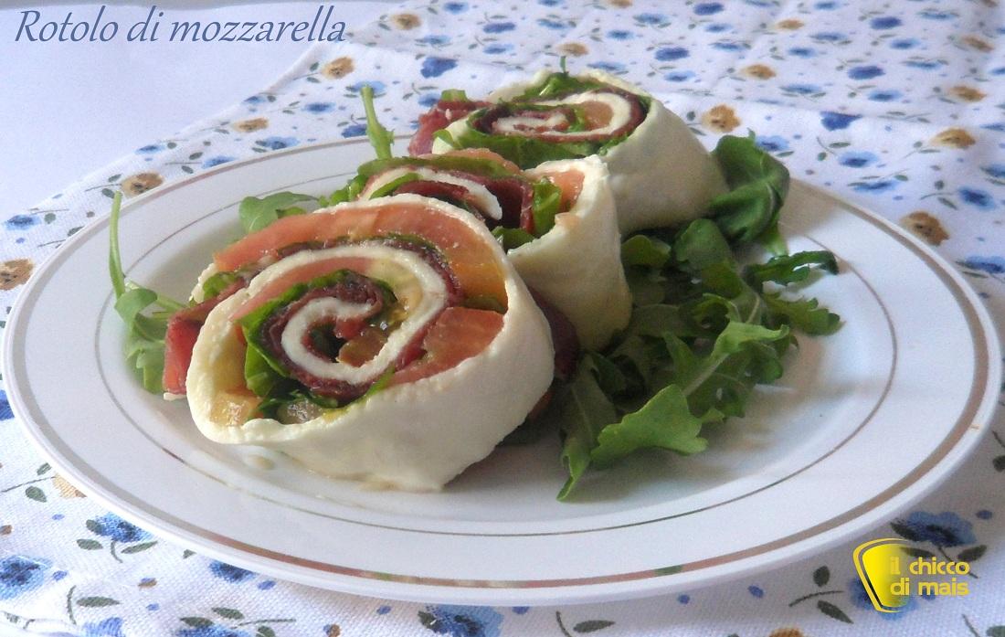 Favorito Rotolo di mozzarella tricolore (ricetta piatto freddo) FY08