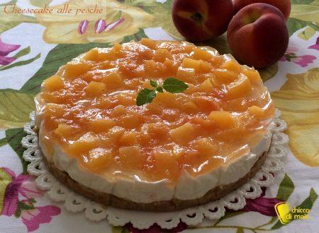 Cheesecake alle pesche (ricetta estiva)