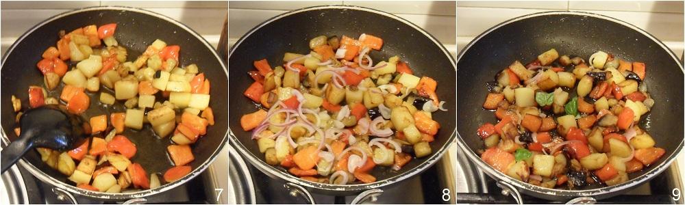 Contorno di verdure estive in padella ricetta vegan il chicco di mais 3