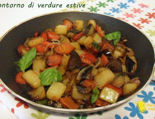 Contorno di verdure estive in padella (ricetta vegan)