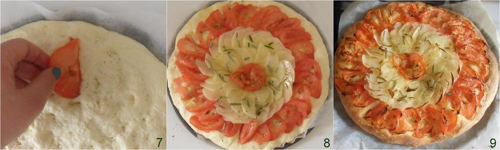 Focaccia con patate e pomodori ricetta senza glutine il chicco di mais 3