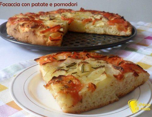 Focaccia con patate e pomodori (ricetta senza glutine)