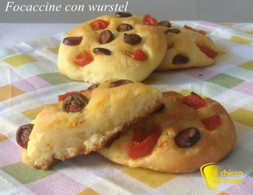 Focaccine con wurstel (ricetta senza glutine)