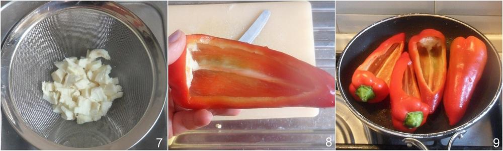 Peperoni ripieni con mozzarella e olive ricetta saporita il chicco di mais 3