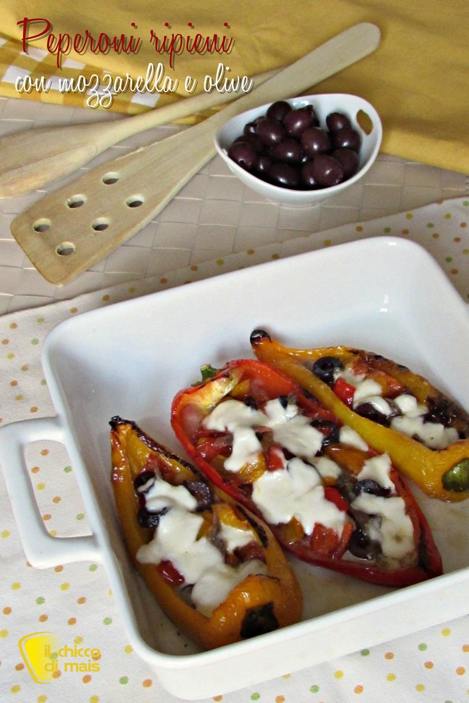verticale_Peperoni ripieni con mozzarella e olive ricetta saporita il chicco di mais