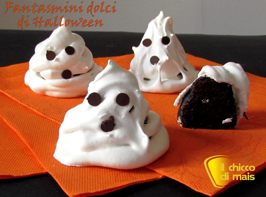 Fantasmini dolci ricetta di Halloween il chicco di mais
