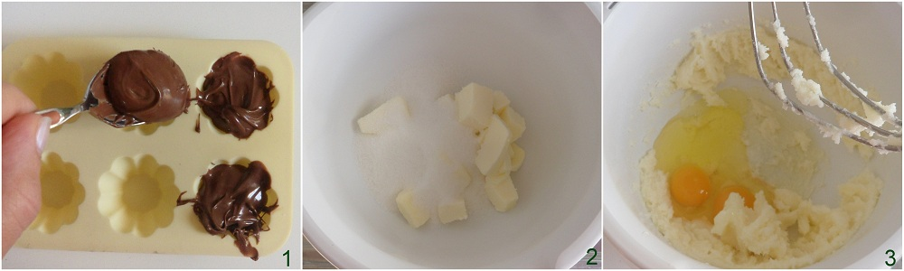 Muffin con cuore di nutella ricetta colazione il chicco di mais 1