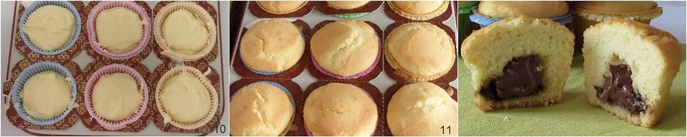 Muffin con cuore di nutella ricetta colazione il chicco di mais 4
