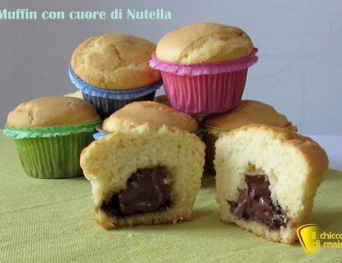 Muffin con cuore di nutella (ricetta colazione)