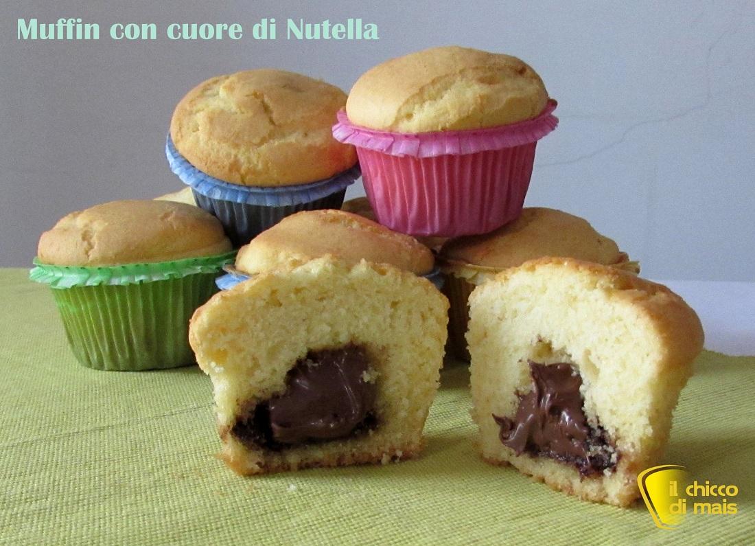 Muffin con cuore di nutella ricetta colazione il chicco di mais