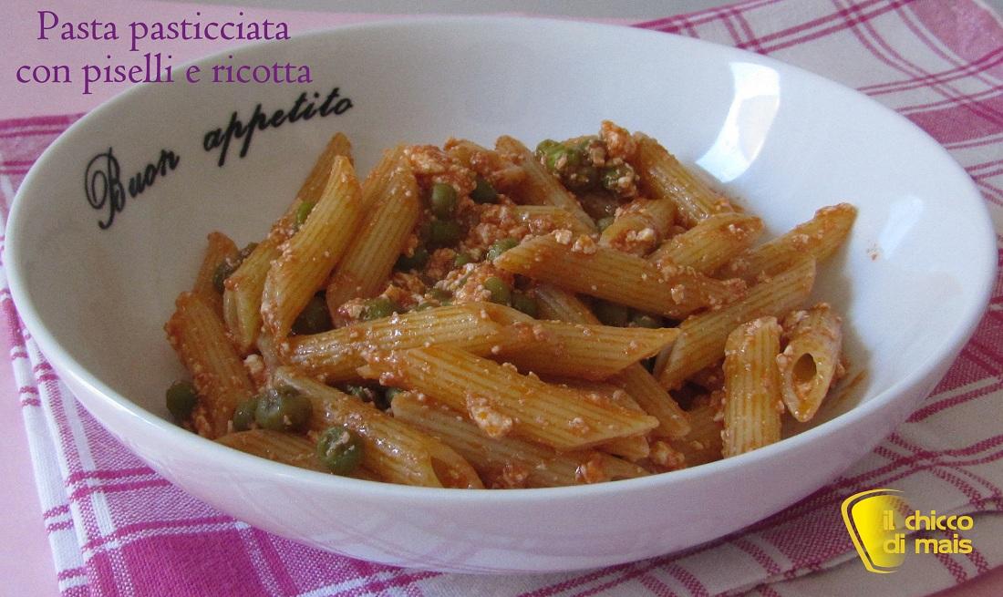 Pasta pasticciata con piselli ricetta vegetariana il chicco di mais