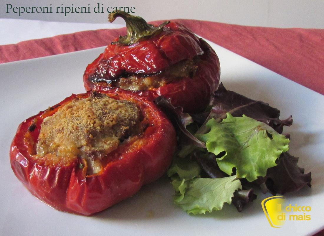 Peperoni ripieni di carne ricetta secondo il chicco di mais