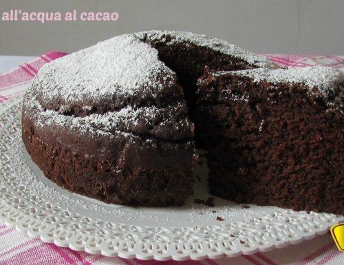 Torta all'acqua al cacao (ricetta senza uova)