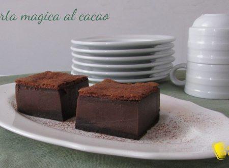 Torta magica al cacao (ricetta anche senza glutine)