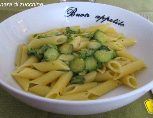 Carbonara di zucchine (ricetta vegetariana)