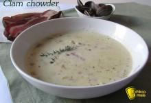 Clam chowder – Zuppa di vongole (ricetta americana)