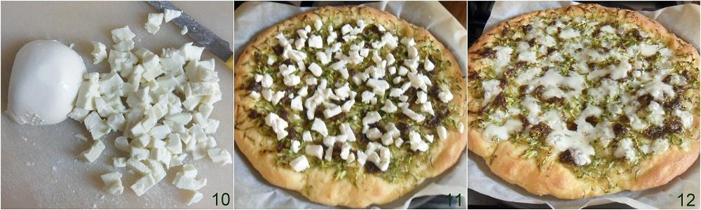Pizza con zucchine e pesto ricetta vegetariana il chicco di mais 4