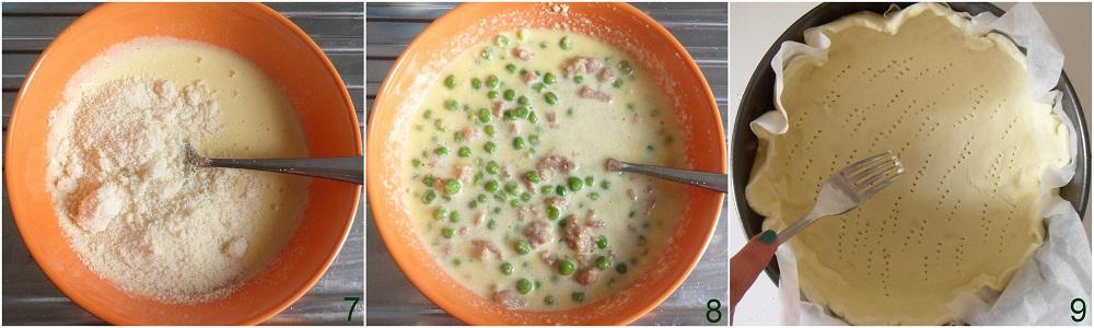 Torta salata con salsiccia e piselli ricetta rustica il chicco di mais 3