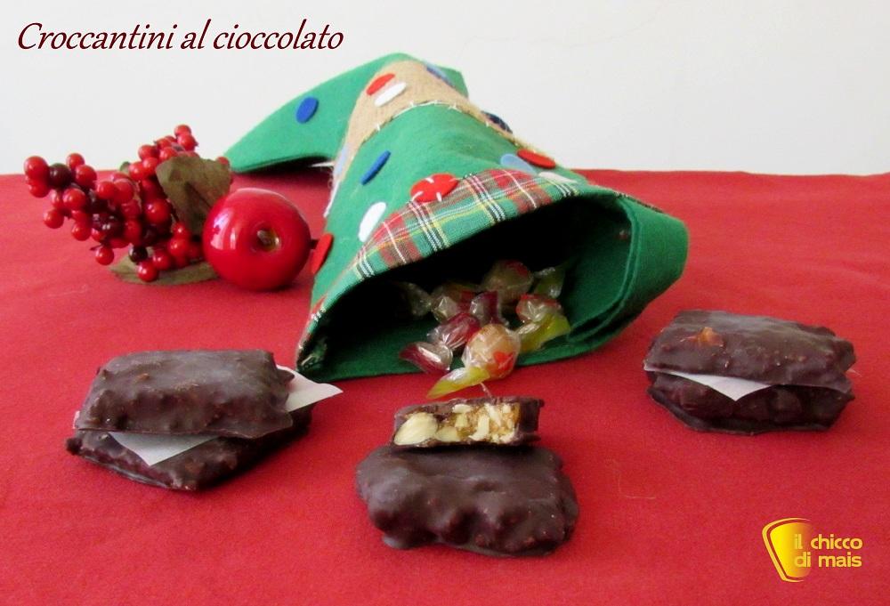 i dolci di natale Croccantini al cioccolato ricetta della Befana il chicco di mais