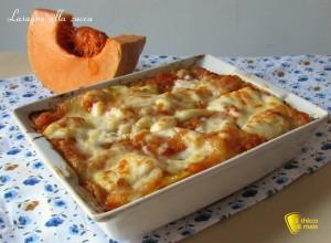 ricette con la zucca lasagne alla zucca