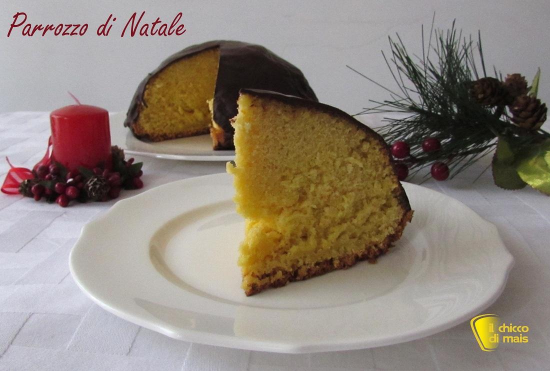 dolci di natale Parrozzo di Natale ricetta abruzzese il chicco di mais