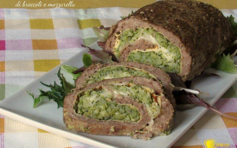 Polpettone ripieno di broccoli e mozzarella (ricetta sfiziosa)