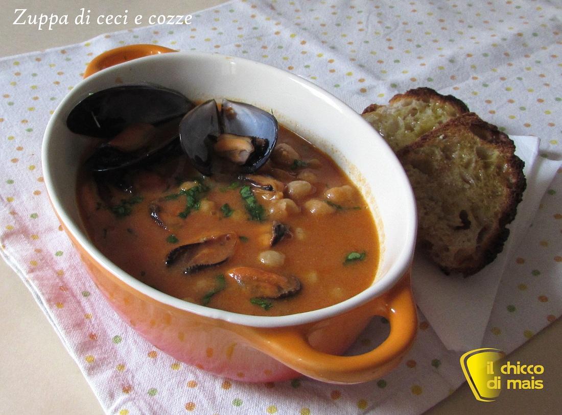 10 primi di pesce per Natale 2014 Zuppa di ceci e cozze il chicco di mais
