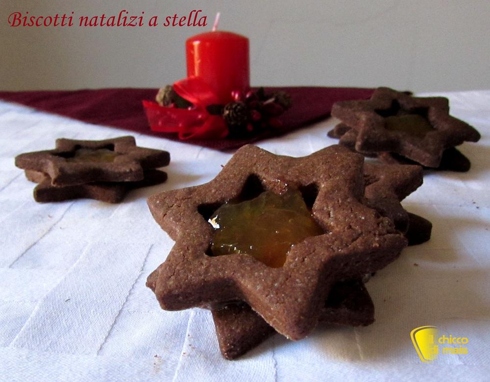 i dolci di natale Biscotti natalizi a stella ricetta facile il chicco di mais