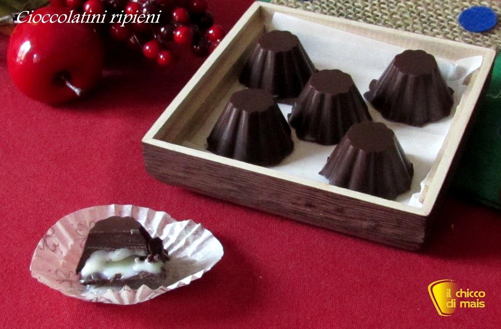 Cioccolatini ripieni al cioccolato bianco il chicco di mais
