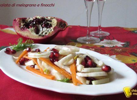 Insalata di melograno e finocchi, ricetta light