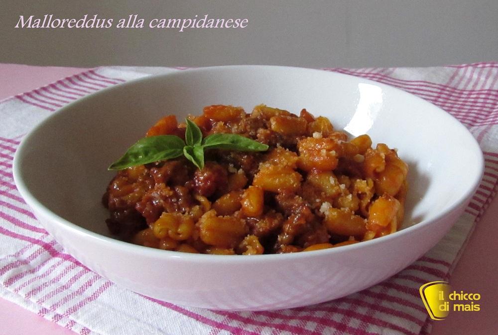 menu di capodanno 2015 Malloreddus alla campidanese ricetta sarda il chicco di mais