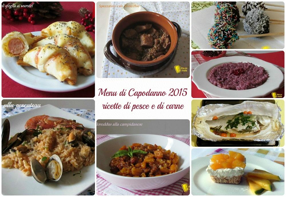 Menu di Capodanno 2015 ricette di pesce e di carne il chicco di mais