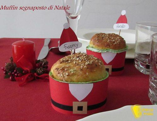 Muffin segnaposto di Natale, tutorial fai da te