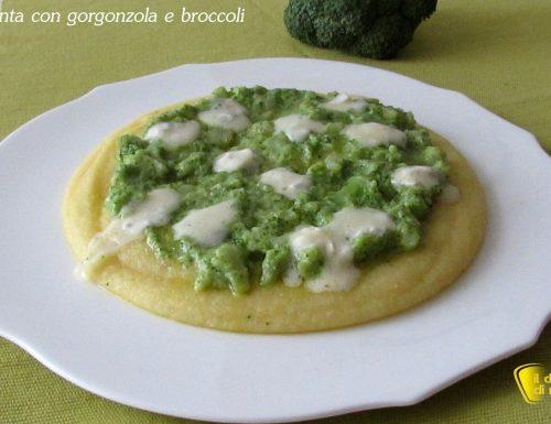 Polenta con gorgonzola e broccoli (ricetta sfiziosa)