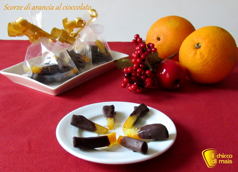 i dolci di natale Scorze di arancia al cioccolato ricetta veloce il chicco di mais