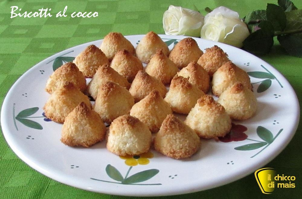 buffet di capodanno Biscotti al cocco ricetta con soli albumi il chicco di mais