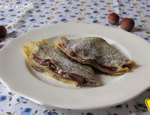 Crepes alla nutella (ricetta golosa)