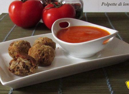 Polpette di lenticchie al forno con salsa (ricetta vegetariana)