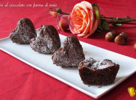 Tortini al cioccolato (ricetta con farina di mais)