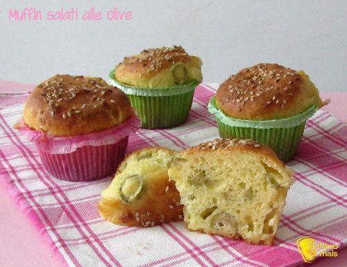 Muffin salati alle olive (ricetta buffet)