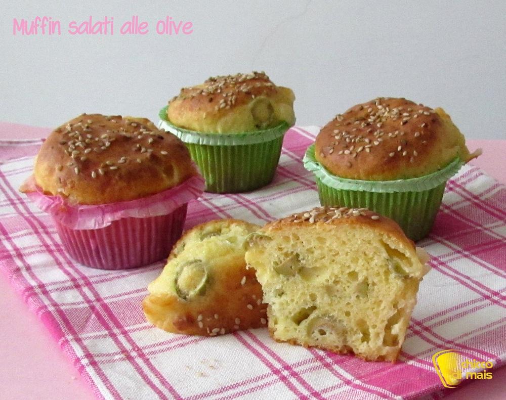 Muffin salati alle olive ricetta buffet il chicco di mais