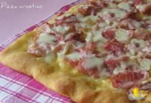 Pizza crostino al prosciutto cotto (ricetta appetitosa)