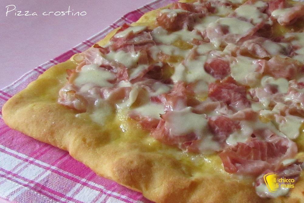 Pizza crostino al prosciutto cotto ricetta appetitosa il chicco di mais