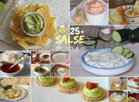 Raccolta di salse per tutti gli usi: crostini, pinzimonio, polpettone, insalate…