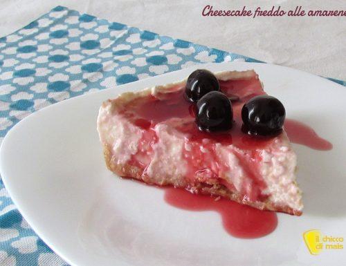 Cheesecake freddo alle amarene (ricetta facile)